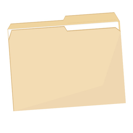 Empty plastic file folder raster icon isolated on white