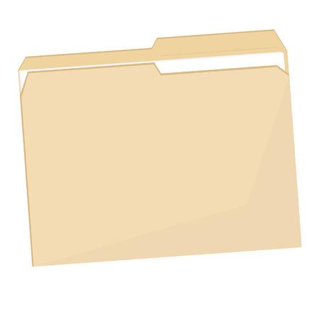 folder icon: Empty plastic file folder raster icon isolated on white