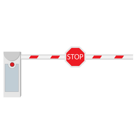 barrier: Closed barrier, road barrier, barrier raster, isolated on white
