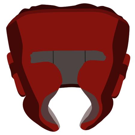 brawl: Boximg helmet, boxing helmet raster, red boxing helmet, boxing helmet isolated Stock Photo