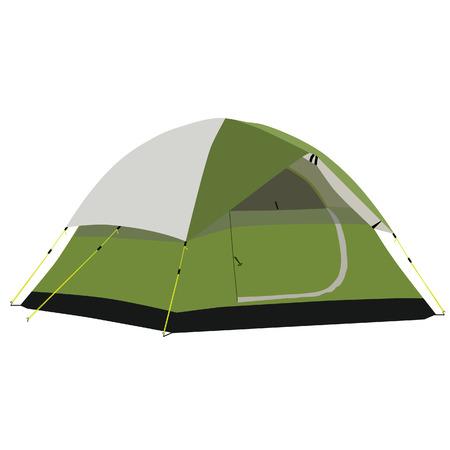 camping equipment: Camping tent, camping equipment, tourism, green tent