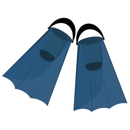 flippers: Azul aletas, aletas aisladas, equipos de buceo, nataci�n turismo