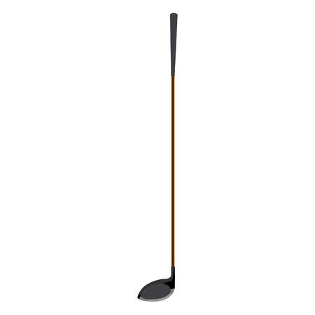 raster illustration: raster illustration of golf club. Golf course.
