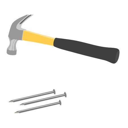 impact tool: Hammer and nails, hammer, tool
