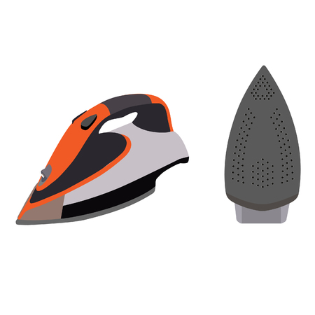 steam iron: Electrical iron, iron isolated, iron raster illustration, clothes iron, steam iron. Steam iron icon