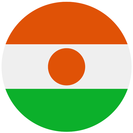 correctly: Republic of niger flag vector illustration. Round natianal flag of  niger. Nigerian flag high detailed