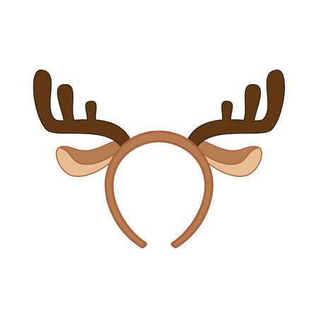 stag party: Reindeer mask. Funny christmas reindeer horns vector illustration. Illustration