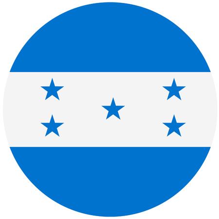 bandera honduras: Vector illustration of honduras flag. Round national flag of honduras