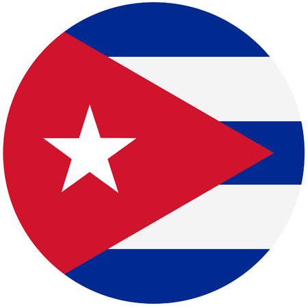 cuban flag: Vector illustration of cuba flag. Round national flag of cuba. Cuban flag Illustration