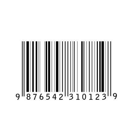 Bar code isolated vector illustration. Barcode icon. Bar code tag, sticker Ilustrace