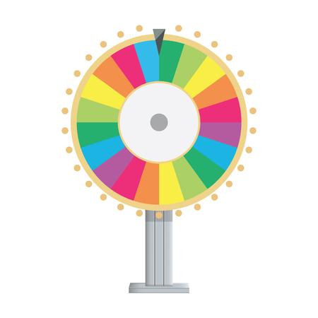 rueda de la fortuna: Ilustración vectorial de la rueda de la fortuna. Icono de giro afortunado en estilo plana.