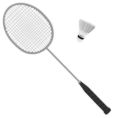 sport equipment: Badminton racket, shuttlecock, sport equipment, badminton set Stock Photo