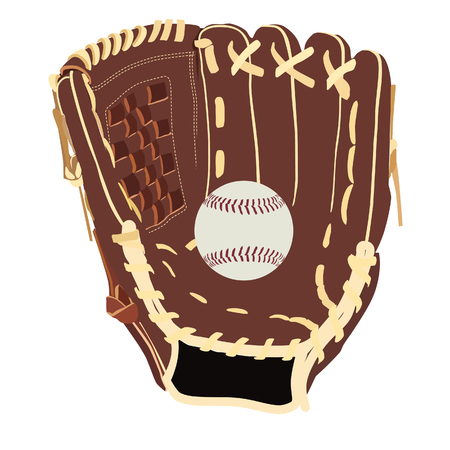 guante de beisbol: guante de b�isbol y la pelota, aislado en, trama, handglove, el material de deporte blanco Foto de archivo