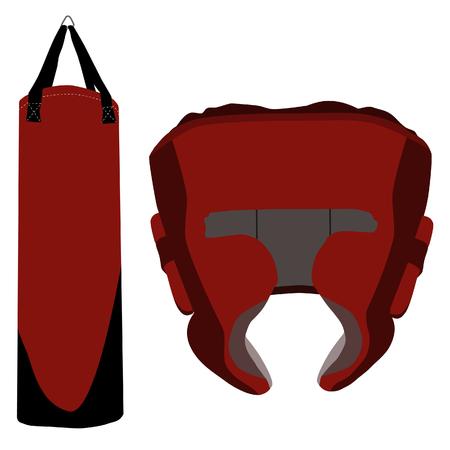combative: Boxing bag, boxing helmet, boxing helmet raster, boxing bag raster