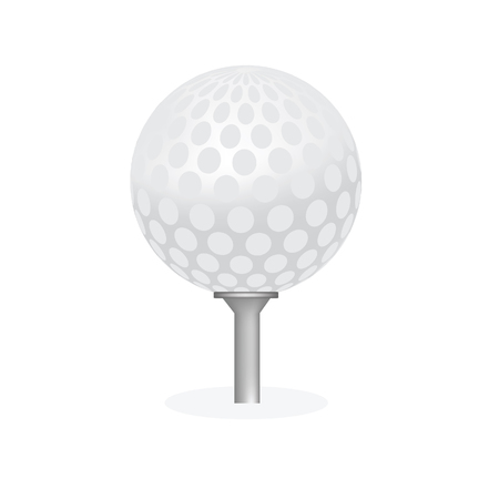 golfball: Golf ball, golf ball isolated, golf tee, golf ball on tee