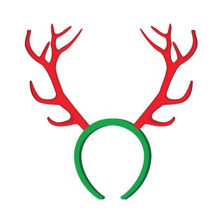 reno: m�scara de renos. Ilustraci�n divertida cuernos de reno de Navidad.