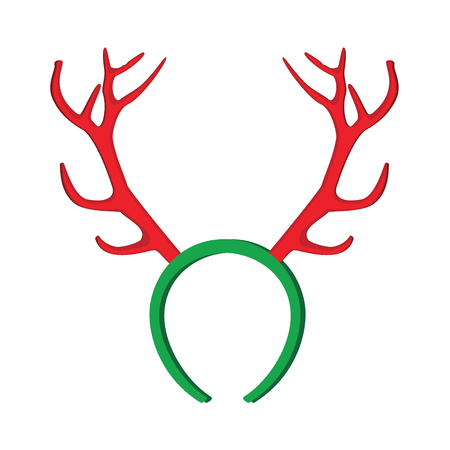 stag party: Reindeer mask. Funny christmas reindeer horns illustration.