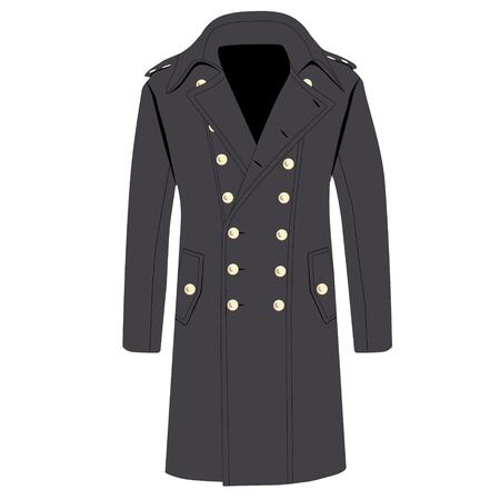 the trench: illustration man elegant grey trench coat,