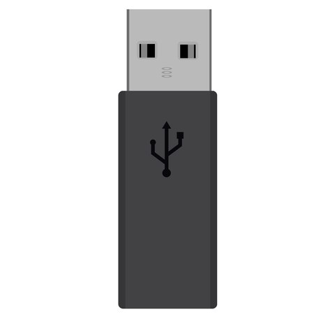 memory drive: Black realistic USB flash drive illustration. Memory stick