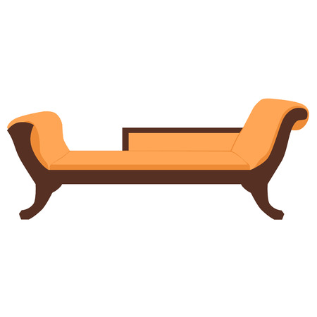 classic furniture: Vector illustration sofa, divan or couch. Classic vintage furniture
