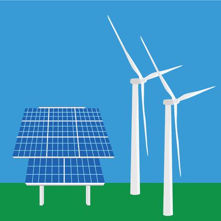 generating: Vector illustration solar panel icon.  Illustration