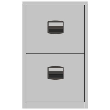 office cabinet: Vector illustration metallic office filing cabinet. Archive cabinet. Office furniture