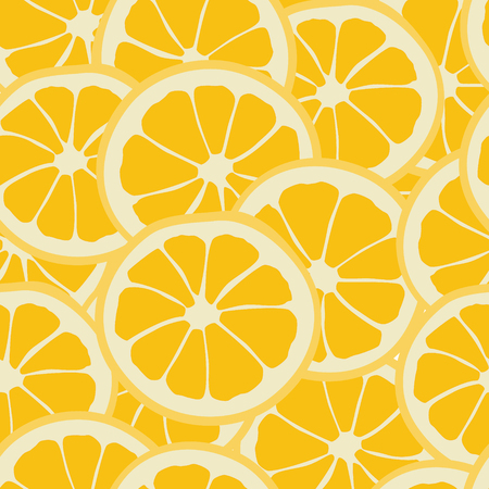 Vector illustration seamless pattern with orange slice . Background pattern from orange. Fresh fruit