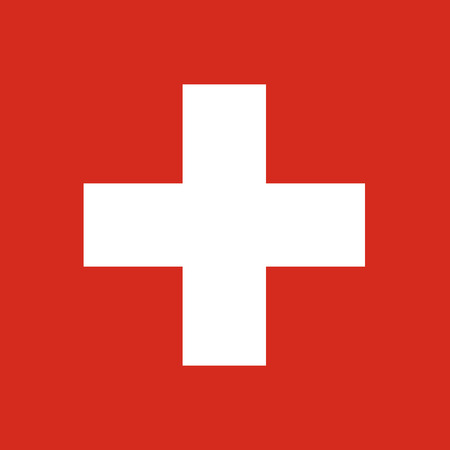 swiss flag: Vector illustration rectangle flag of Switzerland country. Swiss flag. Button or badge