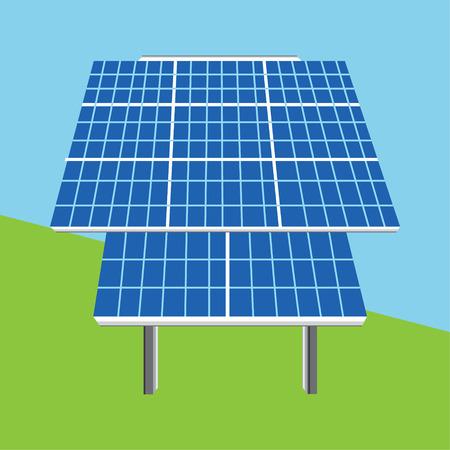 photovoltaic panel: Vector illustration solar panel icon. Photovoltaic electric solar panel. Renewable energy. Ecology energy Illustration