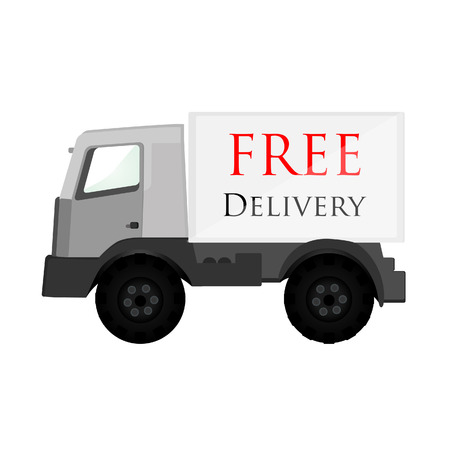 delivery car: Free delivery, delivery car, delivery van, delivery truck, delivery service Stock Photo