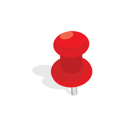 thumb tack: Red, plastic pin raster isolated. Push pin