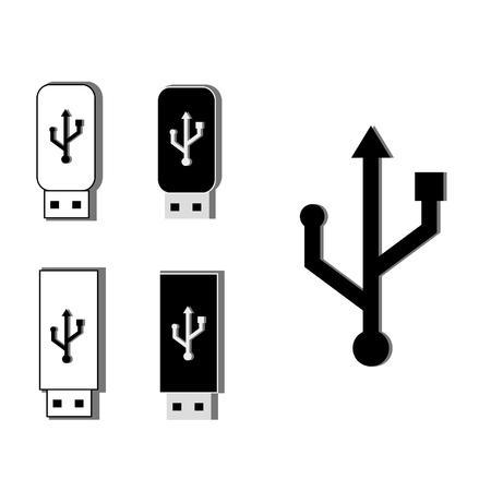 usb stick: Usb set, usb stick, usb icon, us raster