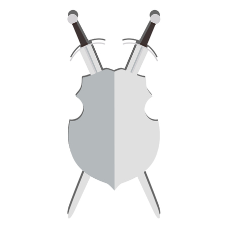 medieval sword: Illustration of shield and sword,  sword, shield, armor, medieval, medieval sword