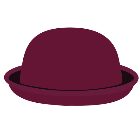 bowler hat: Vinous woman bowler hat. Derby hat. Fashion, glamour winter hat