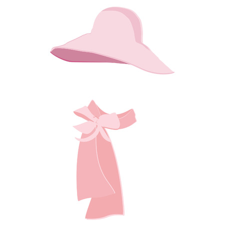 woman in scarf: Elegatnt pink woman hat with scarf. Fashion, glamour winter hat