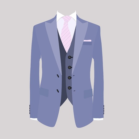 Illustrazione di uomo vestito, cravatta, tailleur, di affari, vestito mens, l'uomo in tuta Archivio Fotografico