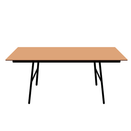 dining table: Vector illustration wooden rectangular table. Desk. Dining table Illustration