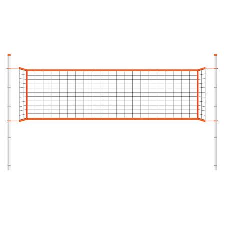 Vector illustration beach-volley net. Orange filet de volley-ball intérieur. Vecteurs