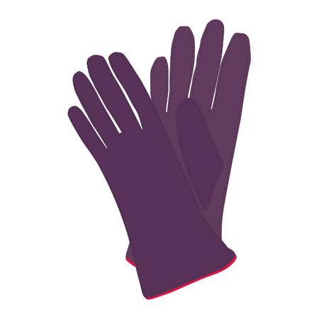 leather gloves: Winter gloves, leather gloves, gloves isolated Stock Photo