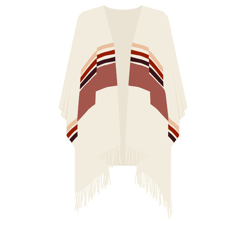 poncho: Mexican poncho raster illustration . Mexican clothes