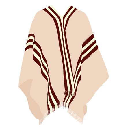 raster: Mexican poncho, poncho raster, isolated on white, raster Stock Photo