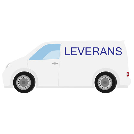 delivery car: Delivery car with swedish text delivery raster icon, delivery truck, delivery service