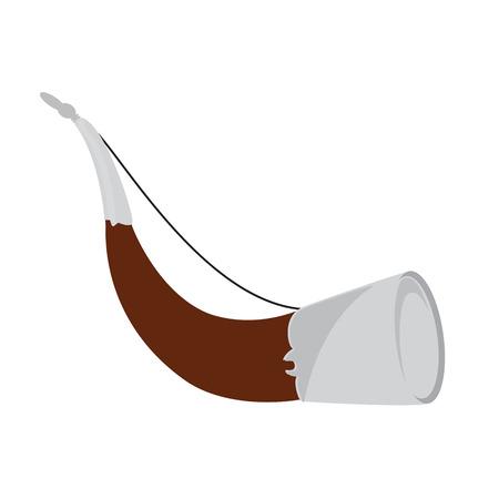 trompeta: ilustración de la trama cuerno de caza tradicional. equipos Hunter