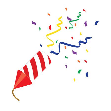 Red petard , confetti, firecracker, firecracker raster, petard raster