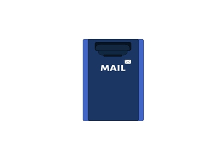 metal mailbox: Illustration of  mail, mailbox icon, postbox, letterbox,  mailbox isolated Stock Photo