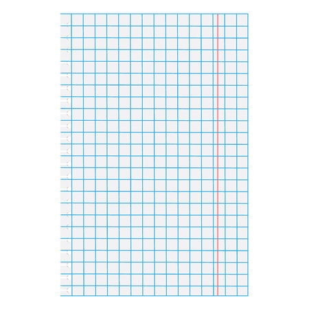 squared paper: Vector illustration white squared paper sheet. Blank squared paper. Exercise math paper Illustration