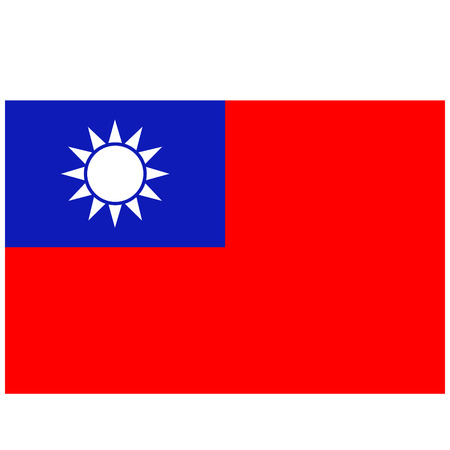 Vector illustration vecteur drapeau Taiwan icône. drapeau national rectangulaire de Taiwan. Taiwan flag button
