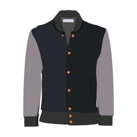 winter jacket: Sport jacket, winter jacket, running jacket, grey jacket Stock Photo