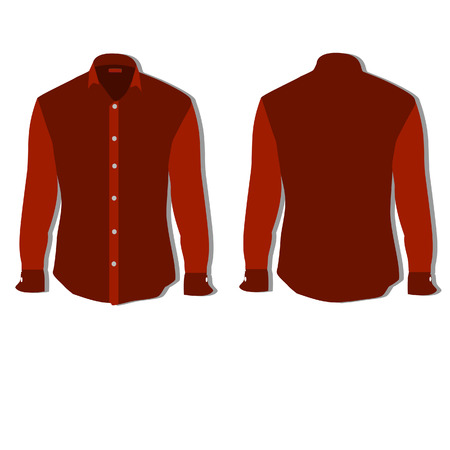 shirt template: Illustration of  t-shirt,  clothes,  man shirt, formal shirt,  red shirt,  shirt template Stock Photo