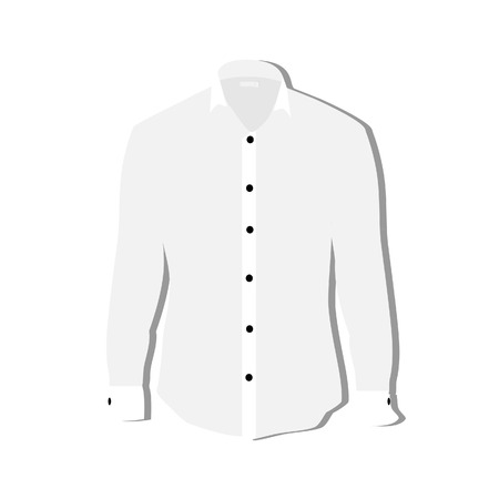 white shirt: Illustration of  t-shirt,  clothes,  man shirt, formal shirt, white shirt,  shirt template Stock Photo